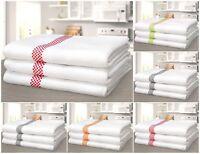 Luxurious Pack Of 3 Soft Waffle Tea Towels 100% Cotton Machine Washable Kitchen