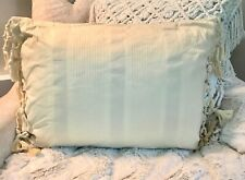 RALPH LAUREN HOME COCO PALM DOBBY BOUDOIR THROW PILLOW ~ CREAM