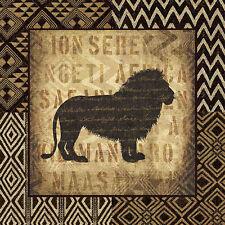 African Wild Lion by Wild Apple Animal Safari Print Poster 12x12