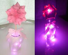 Handmade origami flower with LED light - birthday gift / present