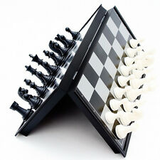Portable Magnetic Board Plastic Tournament Chess Set Pieces with Box Great Gift