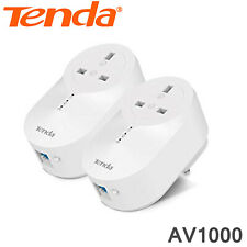 TENDA Powerline Adapter Kit AV1000 Twin Pack Wireless Ethernet CCTV Home CCTV HD