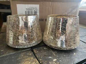 (2)Yankee Candle J/S Mercury Shade Toppers