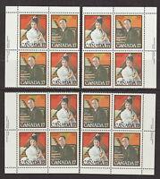 CANADA #860-861 17¢ Canadian Musicians Match Set of Plate Blocks MNH