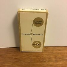 New listing Distinctive Quality Inked Ribbon 2 Spool Pack Silk Ribbon T411 Sealed Package