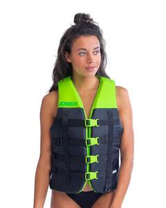 Jobe Dual Unisex Waterski Wakeboard Jetski Life Vest Lime Green
