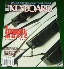 1987 Experimental KEYBOARD Music Special Magazine E-mu Emax Roland DEP-5 Reviews