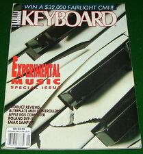 1987 Experimental KEYBOARD Music Special Magazine E-mu Emax Roland DEP-5 Reviews
