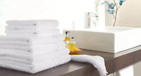 Pack of 2, 500 GSM Hotel Quality Egyptian Cotton Bath Towels 70 x 135cm