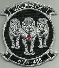 United States Marine Corps HMH-466 Helicopter Squadron Military Patch WOLFPACK