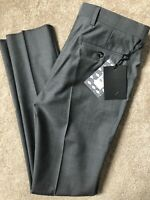 """TED BAKER GREY """"LOTTRO"""" DEBONAIR MOD FIT TROUSERS PANTS CHINOS - 28R - NEW TAGS"""
