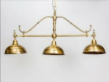 OLD VINTAGE BRASS ART DECO SHIP LIGHT FIXTURE PENDANT HANGING CHANDELIER LAMP