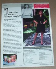 1990 print ad page - CRISTINA FERRARE - Slim-Fast diet plan food Advertising
