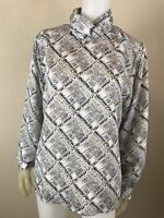SALE Women's Worthington Printed Long Sleeve Blouse, Size 12, Pre-Owned