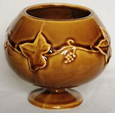 Vintage Orange Brandy Balloon Shaped Vine Pattern 240 Vase - Dartmouth Pottery