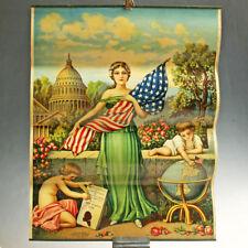 Poster CROMOLITOGRAFIA anni 30 chromolithography Declaration of indipendence USA