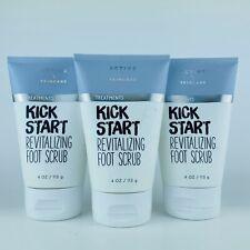 3-Pack Bath & Body Works Active Skin Kick Start Revitalizing Foot Scrub 4 oz