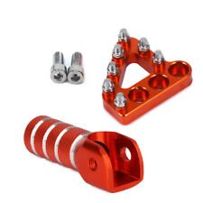CNC Rear Brake Pedal Step & Gear Shifter Lever Tip For KTM SX EXC XCF XC XCW SXF