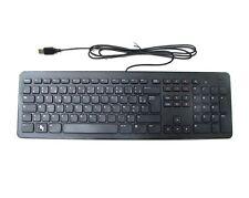 Genuine DELL USB Multimedia KB213 Keyboard SLIM FRENCH AZERTY Layout , NEW