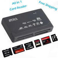 Hot Black All In 1 USB 2.0 Card Reader Multy SD XD MMC MS CF TF Mini SD M2 SDHC