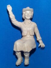 IDEAL 1950'S ROY ROGERS STAGE COACH RIDER FIGURE DALE EVENS TAN RUBBER MINT