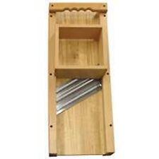 NEW WESTON 70-1401 WOODEN CABBAGE SHREDDER SLAW CUTTING BOARD SS BLADES 8140659