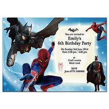 i26 Amazing Spider-man 2 Batman Personalised invitations 4th 5th 6th 7th 8th 9th
