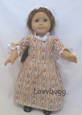 """Colonial Rose Garden Cap for 18"""" American Girl Doll Clothes Lovvbugg Selection"""