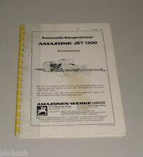 Istruzioni per L'Uso Pneumatic Spandiconcime Amazone Jet 1200 Stand 08/1979