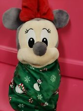 Disney Minnie Mouse With Blanket Christmas Baby Minnie