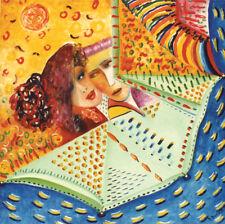 """MARIA MURGIA - """"Amori e vele"""" - Olio su tela cm 70x70 + cornice + archivio"""