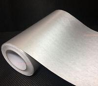 "12"" W Silver Metal Matte Brushed Car House ALUMINUM Vinyl Wrap Sticker Tape - AB"