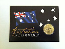 2017 $1 UNC Australian Citizenship Coin On Card