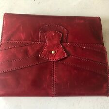 Franklin Covey Planner Red Leather Gold 7 Rings Vintage Cover 33757457 Wom