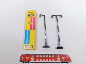 CT652-0,5# 2x Trix Express H0 Bahnhofsleuchte/Gittermastlampe: 6601 + 6602, s.g.