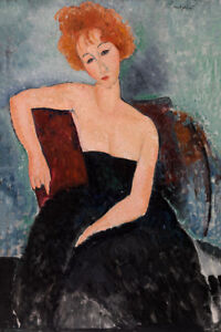 Redheaded Girl in Evening Dress by Amedeo Modigliani 60cm x 40cm Art Paper Print