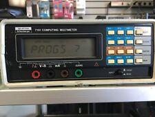 SOLARTRON SCHLUMBERGER 7151 COMPUTING DIGITAL MULTIMETER *TESTED*