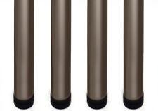 4x Black LEGS 710mm Adjustable Breakfast Bar/Support/Table/Kitchen Round ø60mm