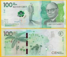 Colombia 100000 (100,000) Pesos p-463 2014 (Prefix AA) UNC Banknote