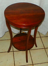 Round Solid Walnut Lamp Table / Side Table  (T595)