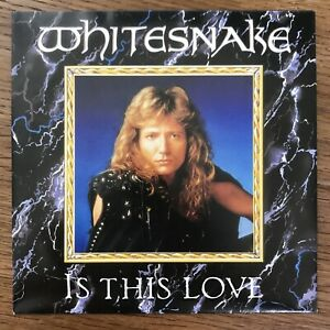 Whitesnake 'Is This Love' Single 1987 -limited Edition- incl. Poster
