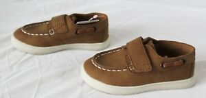 The Children's Place Boy's Hook And Loop Boat Shoes MP7 Tan Size US:5 Toddler