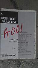 sherwood ai-1110 service manual repair book schematic stereo amp amplifier