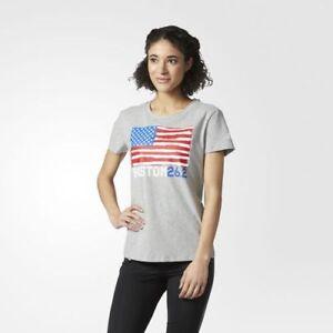 Adidas Boston Marathon Flag Tee CD4180 Grey T-Shirt NEW