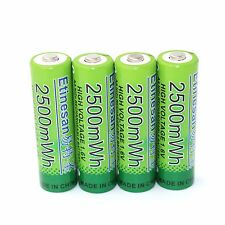 ETINESAN 4Pc 1.6v aa 2500mwh rechargeable battery Ni-Zn battery
