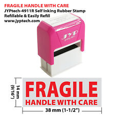 Fragile Handle With Care JYP 4911R Self Inking Rubber Stamp (Red Ink)