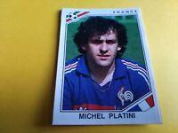 FIGURINA PANINI MEXICO 86 n°175 MICHEL PLATINI FRANCIA rec WORLD CUP
