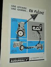 Prospectus Semoir AUDUREAU 1   Tracteur Tractor Traktor Prospekt