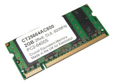 Electrobyt CT25664AC800 2GB 200-Pin SODIMM PC2-6400S 800MHz DDR2 Laptop Memory