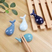 Whale Animal Ceramic Chopsticks Spoon Fork Holder Kitchen Chopstick Rest Stand